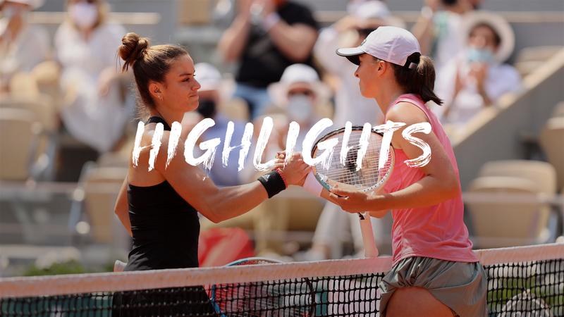 Roland-Garros: Day 11 - Highlights Sakkari v Swiatek