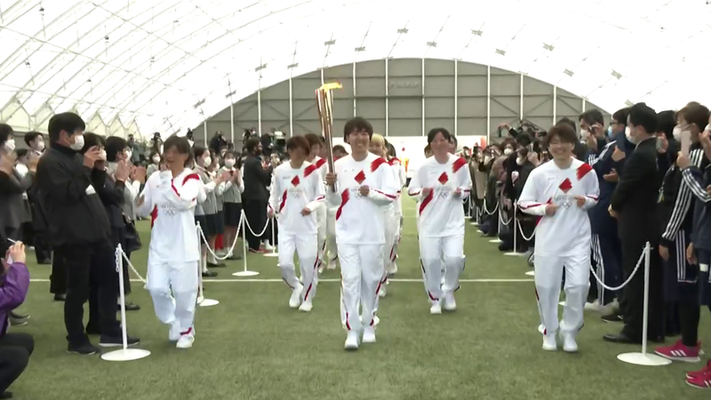 Olympic torch sets off on four-month journey to Tokyo