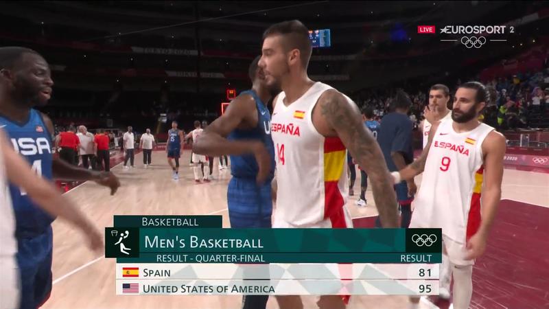 Jocurile Olimpice: Spania - SUA 81-95 în sferturile de finală la Tokyo 2020