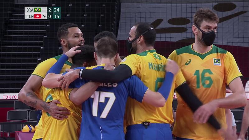 Tokio 2020 - Brasil vs Tunisia - Voleibol – Momentos destacados de los Juegos Olímpicos