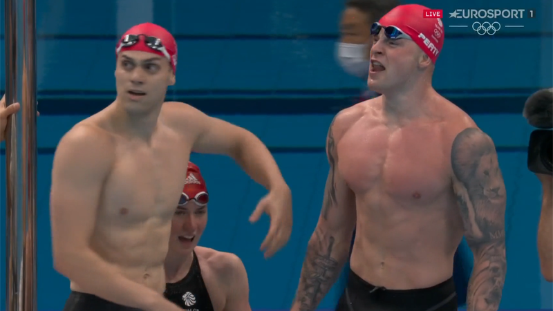 'Look at that from Peaty' – GB swimmers wildly celebrate world record