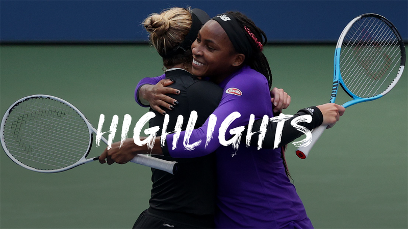 US Open: Gauff/McNally v Hsieh/Mertens - Highlights