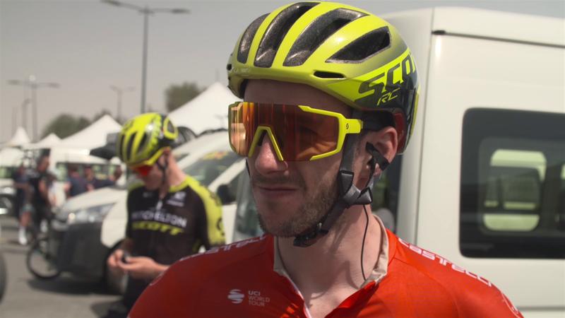 UAE Tour: Stage5 : Interview Adam Yates