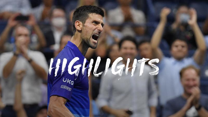Djokovic - Berrettini - US Open Highlights