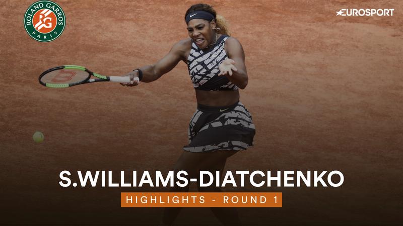 Highlights: Serena Williams laver comeback efter tabt første sæt og vinder kampen