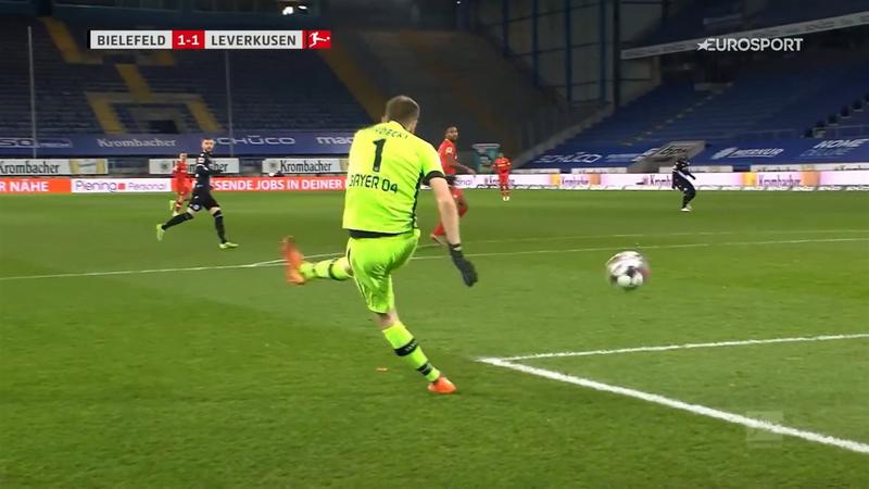 Watch: Bayer Leverkusen's Hradecky scores barely believable own goal