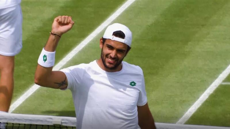 Berrettini ai quarti, Federer batte Sonego: il meglio del Day 7