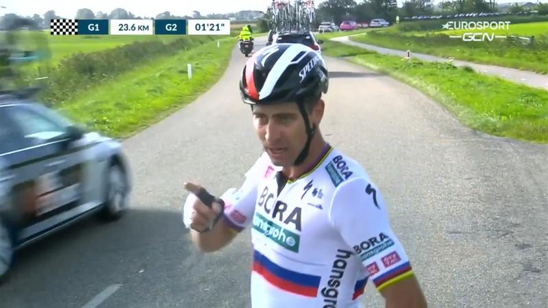¡Vaya enfado! Sagan soltó más de un juramento tras caerse en el Tour del Benelux