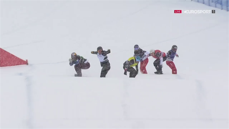 Britain's Bankes comes third in Cervinia snowboard cross