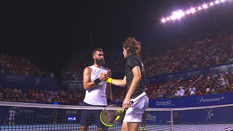ATP Acapulco: Stefanos Tsitsipas, calificare la pas în turul secund după victoria cu Benoit Paire
