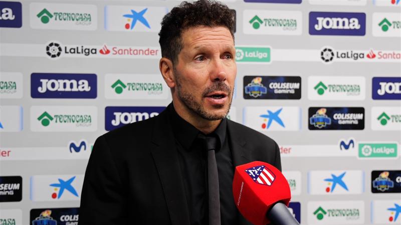 """Simeone: """"El equipo compite muy bien, pero hay muchas cosas a mejorar"""""""