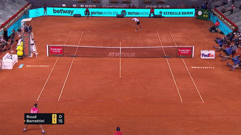 ATP Madrid: Berrettini l-a învins pe Ruud