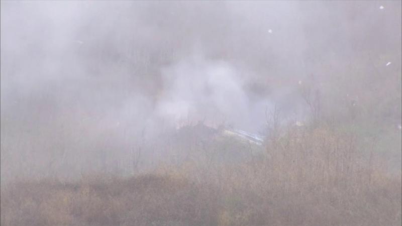 Ужасное видео с места крушения вертолета с Коби Брайантом и его дочерью на борту