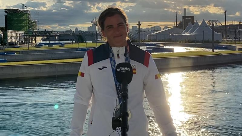 """Maialen Chourraut, en Eurosport: """"Aunque no hubiera ganado medalla estaría satisfecha"""""""