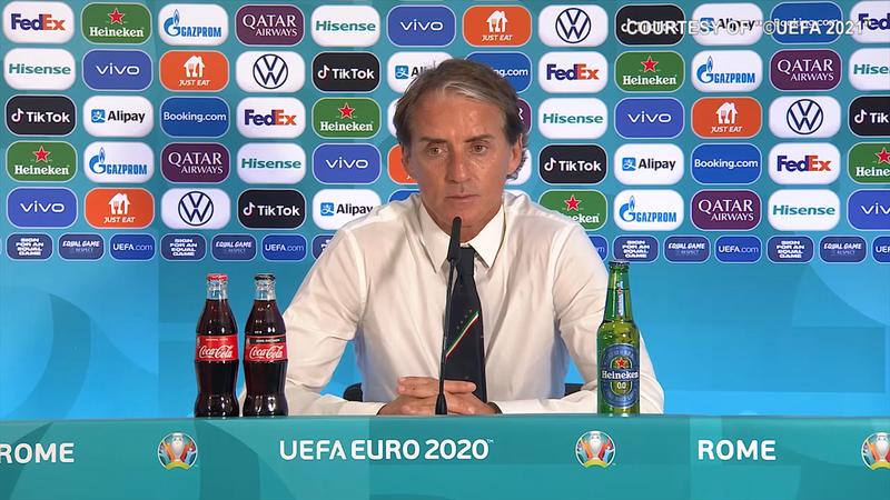 """Mancini: """"Francia, Portogallo e Belgio sono più avanti"""""""