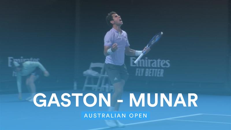 Australian Open Highlights - Hugo Gaston v Jaume Munar