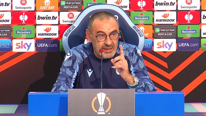 """Sarri: """"Lazio-Inter? Io cacciato per dito minaccioso, loro..."""""""