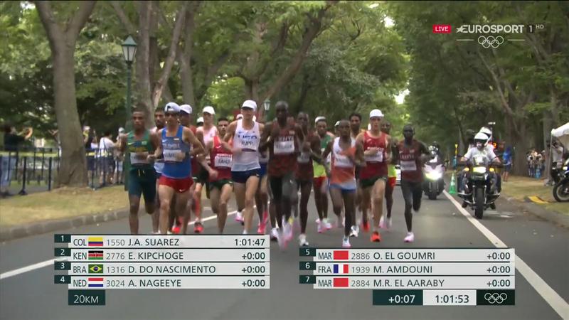 Jocurile Olimpice: Clasamentul maratoniștilor la kilometrul 20 la Tokyo 2020