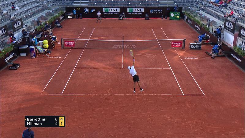 ATP Róma: Berrettini-Millman összefoglaló