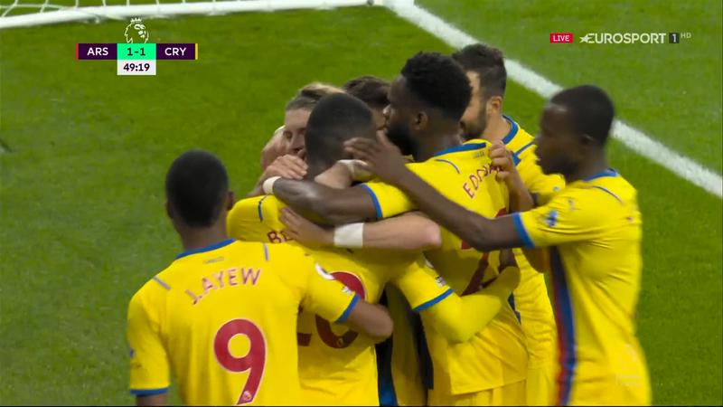 Arsenal – Crystal Palace 1-1. Benteke aduce egalarea pentru gazde pe Emirates