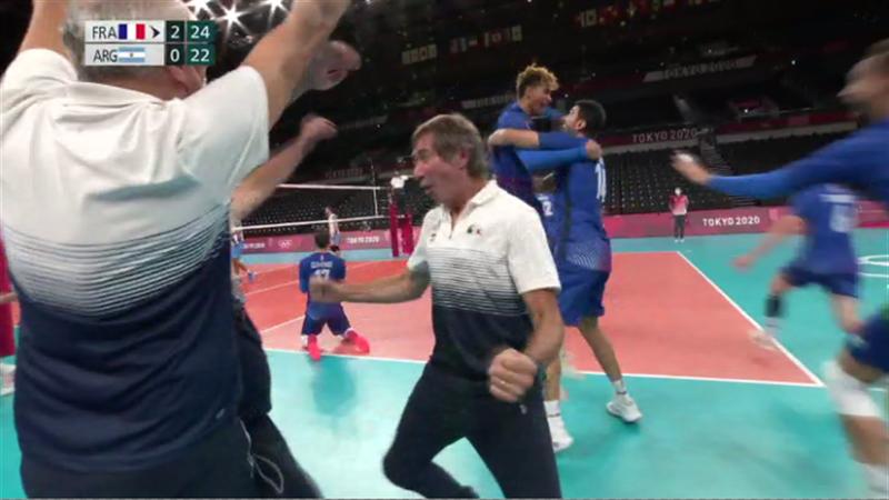 Tokyo 2020 - France mot Argentina  - Volleyball – OL-høydepunkter