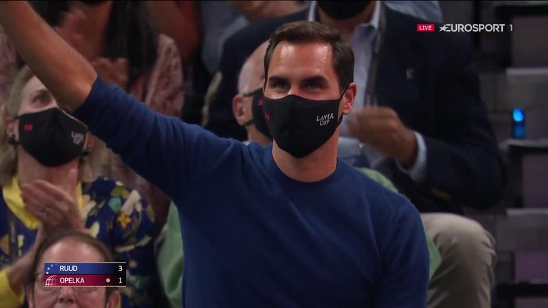 La ovación del día se la llevó ¡Roger Federer!