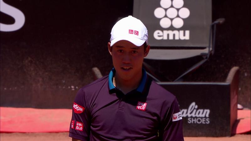 ATP Roma: Rezumatul meciului Nishikori - Fognini. Italianul, eliminat în primul tur la Foro Italico