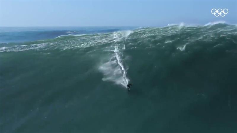 Tokyo 2020: Sunt acestea cele mai mari valuri pe care s-a făcut surfing? Nazare 2020