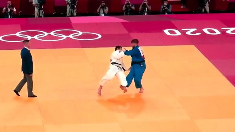 Schöner Ippon: Judoka Ressel fegt Gegner von der Matte