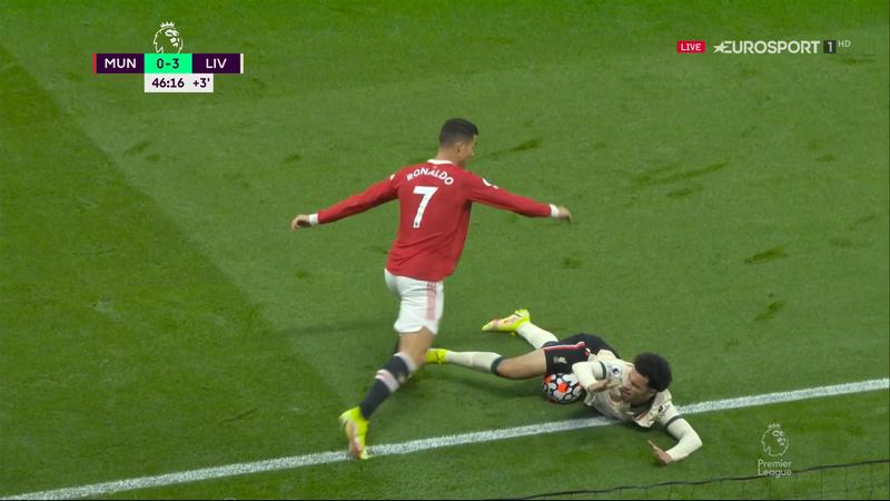 Cristiano Ronaldo, gest incalificabil în United - Liverpool