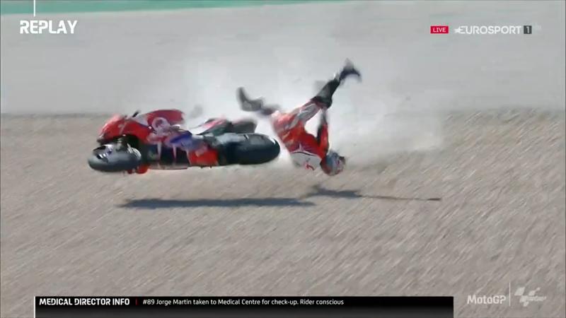 MotoGP Portugal | Geen GP Portugal voor Jorge Martin na zware crash