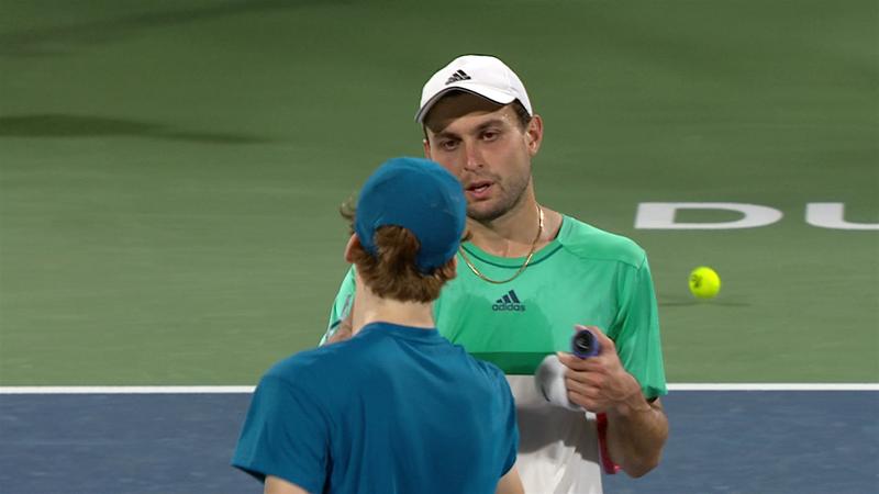 ATP Dubai| Rezumatul partidei dintre Aslan Karatsev și Jannik Sinner