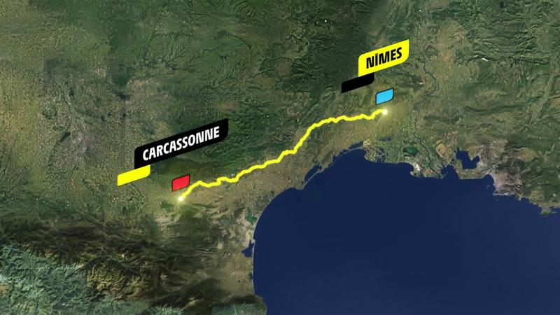 Stage 13 profile: Nîmes - Carcassone