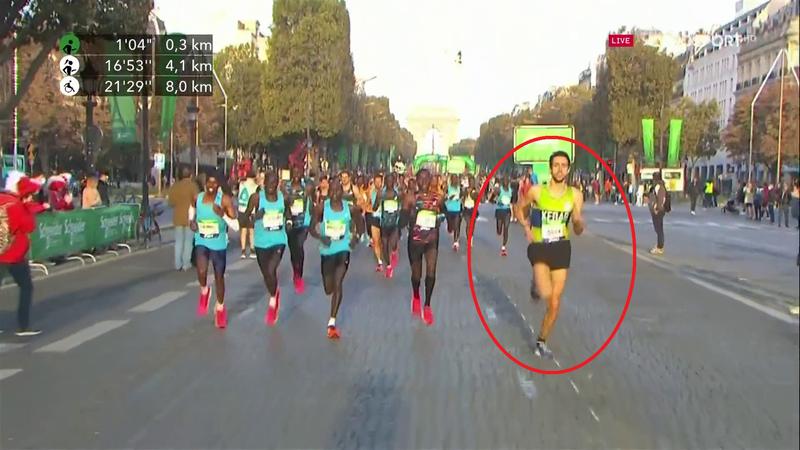 """Atleta del """"Kebab"""" brucia tutti in partenza: risate a Parigi"""