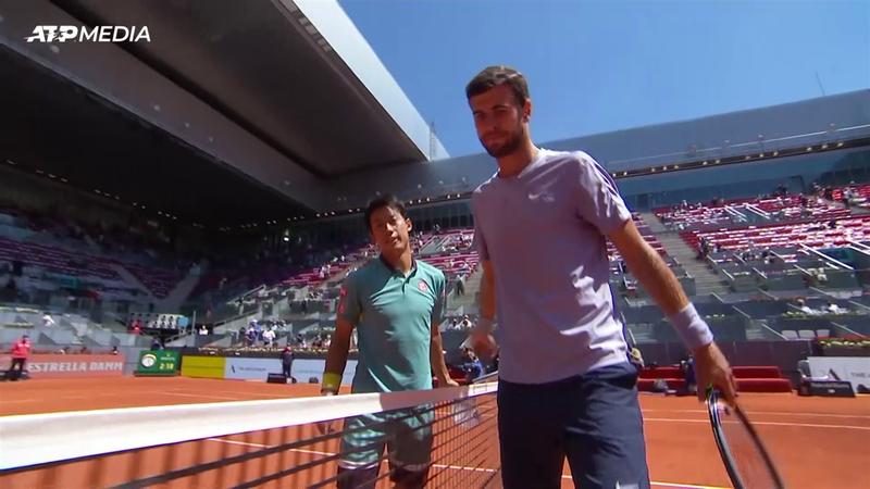 ATP Madrid: Kei Nishikori revine de la 0-1 la seturi și-l învinge pe Khachanov în primul tur