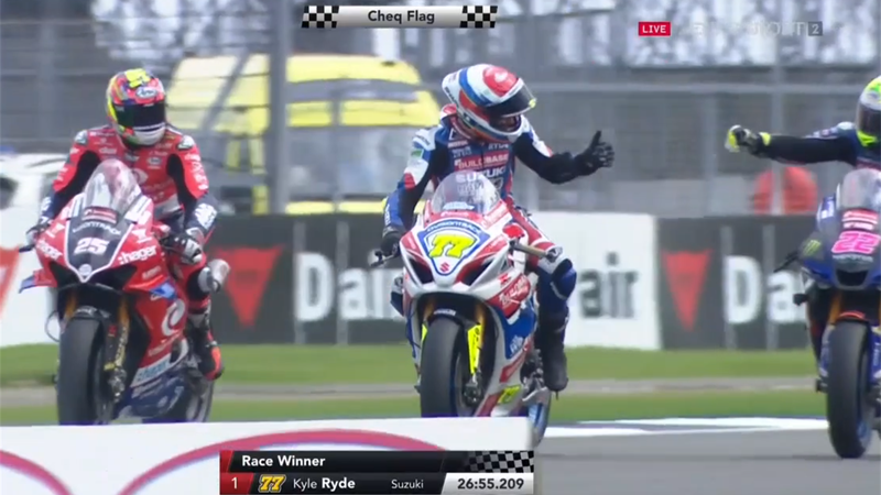 'Superstar' Kyle Ryde wins race two at Silverstone