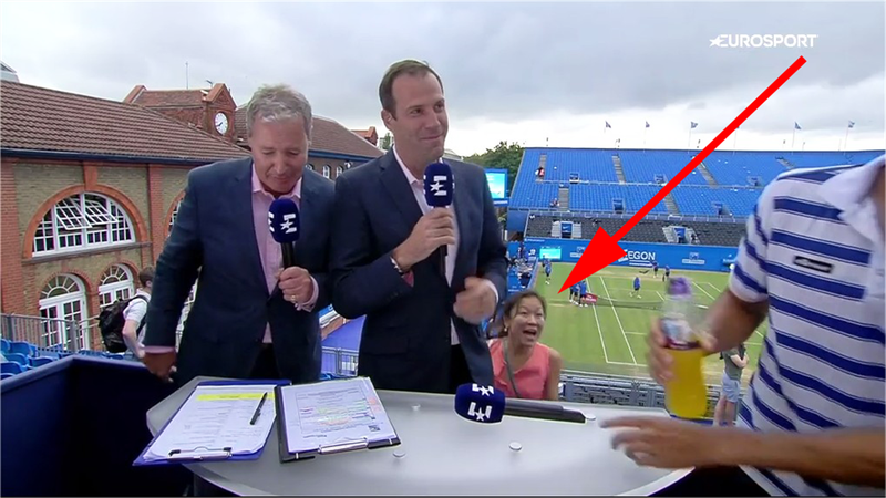 'Hold on!' - Amusing moment fan runs after Lopez live on air
