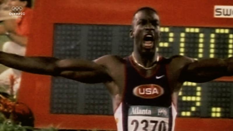 Michael Johnson breaks world record to win Olympic gold at Atlanta 1996