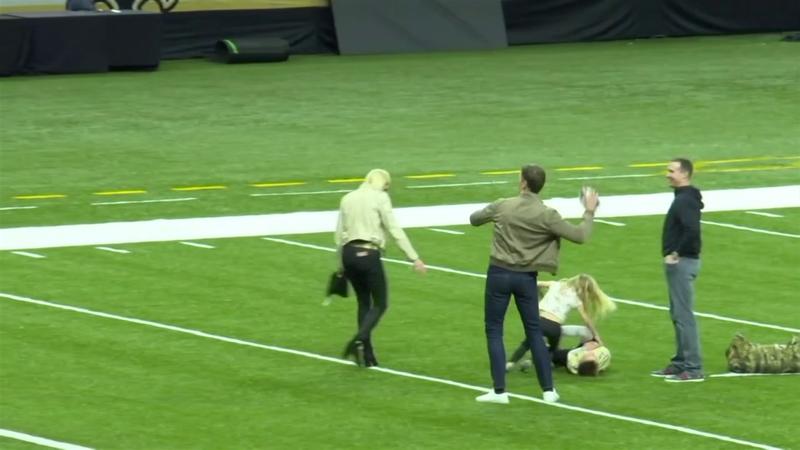 Quand Tom Brady envoie une passe de touchdown au fils de... Drew Brees