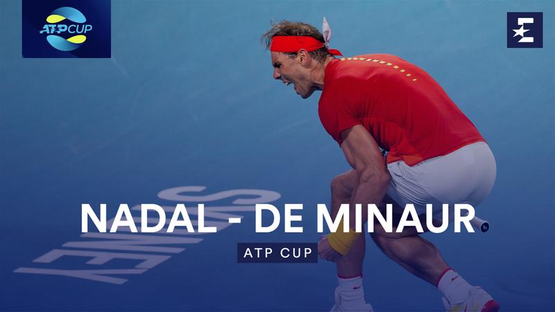 Rezumat ATP Cup: Nadal - De Minaur