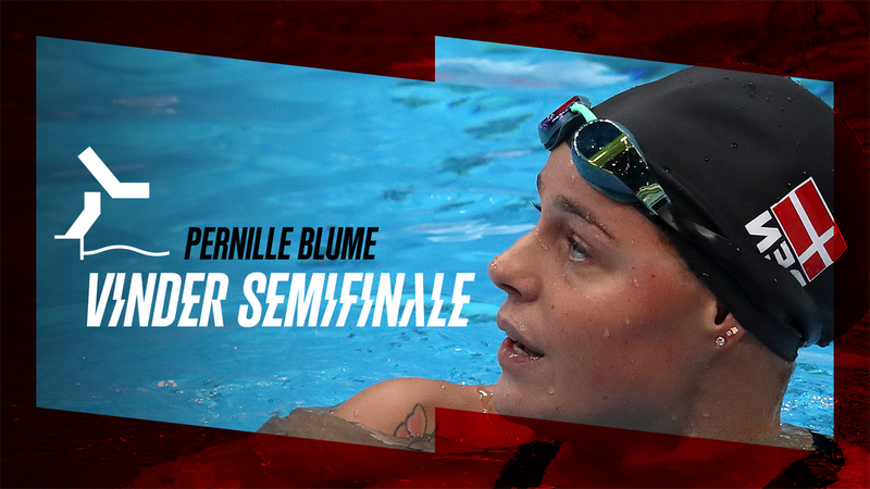 Pernille Blume vinder første semifinale i 50 meter fri