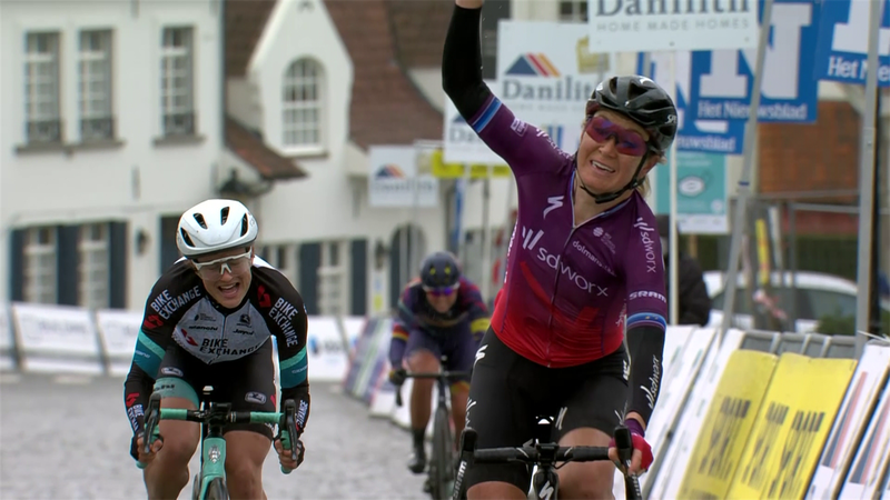 Highlights: Pieters wins at Nokere Koerse as breakaway survives