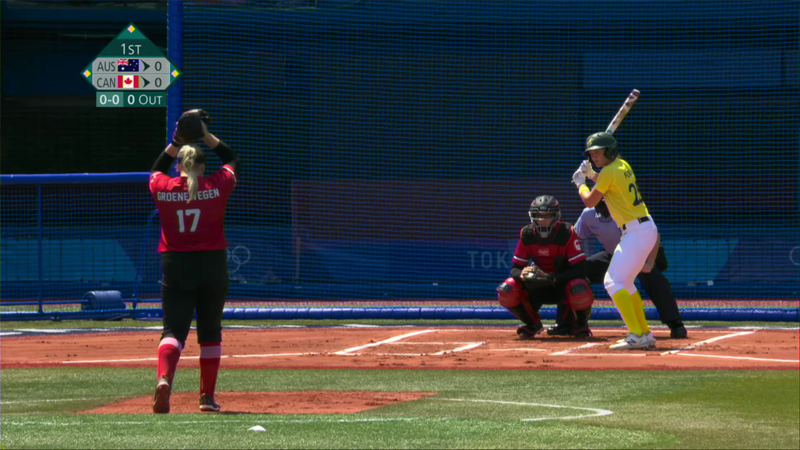 Tokio 2020 - Australia vs Canada - Béisbol / Softball – Momentos destacados de los Juegos Olímpicos