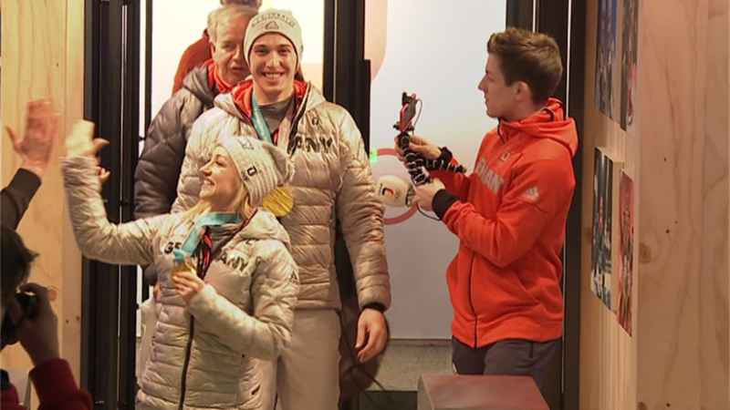 Triumphaler Einzug; Savchenko/Massot bei Olympia 2018 gefeiert
