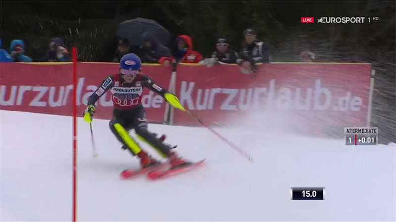 Shiffrin takes lead in Ofterschwang with rapid slalom run