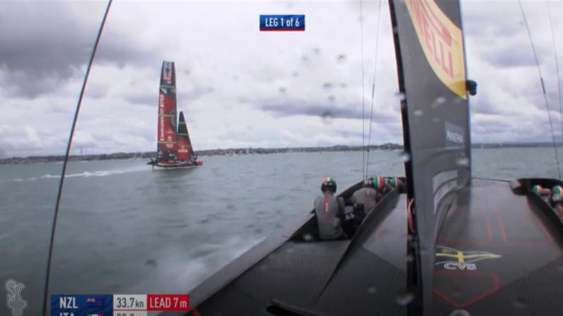 Luna Rossa-New Zealand: lo show di gara-9 in 85 secondi