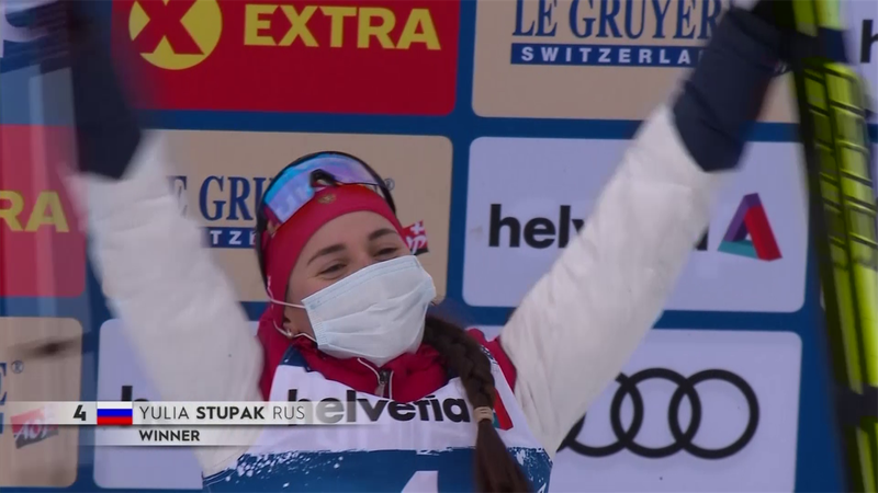 Tour de Ski: Yulia Stupak se impone en 10 kilómetros persecución